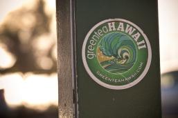 Green Tea Hawaii Sticker.