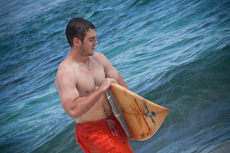 Connor with Jack's board.