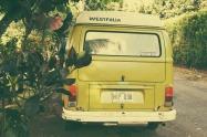 Sunset Beach Hippie Van.
