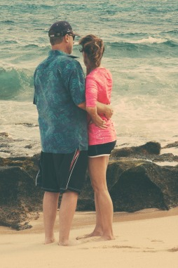 Mom and Dad on the Beach.