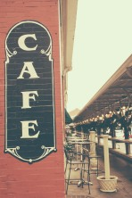 Cafe Painted Sign